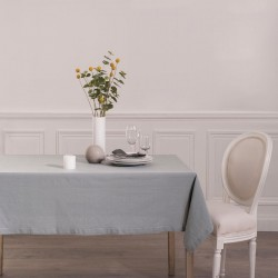 Nappe 240X140cm CHAMBRAY - Gris clair