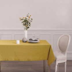 Nappe 240X140cm CHAMBRAY - Ocre