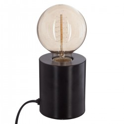 Lampe tube en métal H10cm - Noir