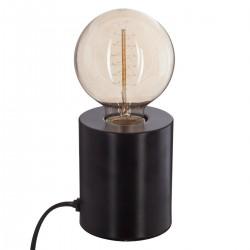 Lampe tube en métal H10cm SABA - Noir