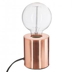 Lampe tube en métal H10cm - Cuivre