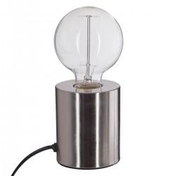 Lampe tube en métal H10cm - Argent