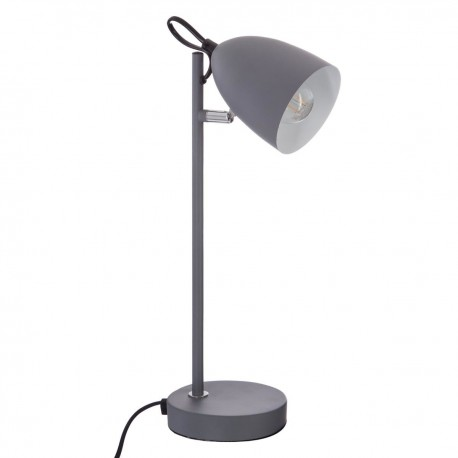 En De Veo Métal Gris Bureau Smile Lampe H36cm Shop OXukiPZT