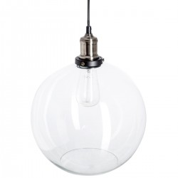 Suspension boule en verre D30cm CASEY, CONTEMPO CHIC - Transparent