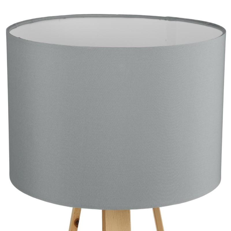 lampe sur pieds en bois h47 5 molu gris veo shop. Black Bedroom Furniture Sets. Home Design Ideas