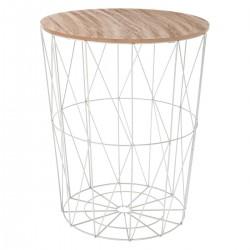 Table à café en métal grand modèle KUMI - Gris