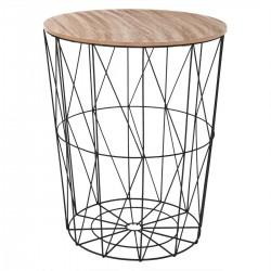 Table à café en métal grand modèle KUMI - Noir
