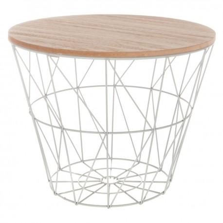 Table à café en métal petit modèle KUMI - Gris