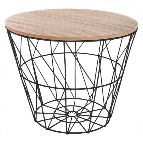 Table à café en métal petit modèle KUMI - Noir