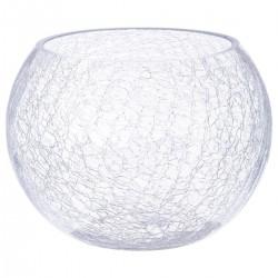 Vase boule craquelé D20cm - Transparent