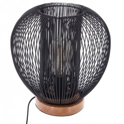 Lampe fil en métal H27cm NODA, UNIVERSALIS - Noir