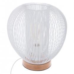 Lampe fil en métal H27cm NODA, UNIVERSALIS - Blanc