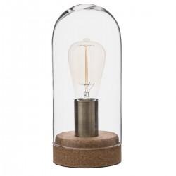 Lampe dôme en verre H28cm CORK - Transparent