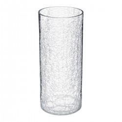 Vase cylindre craquelé H30 CONTEMP' HOME - Transparent