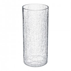 Vase cylindre craquelé H30cm CONTEMP' HOME - Transparent