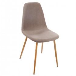 Chaise imitation chêne TAHO - Taupe