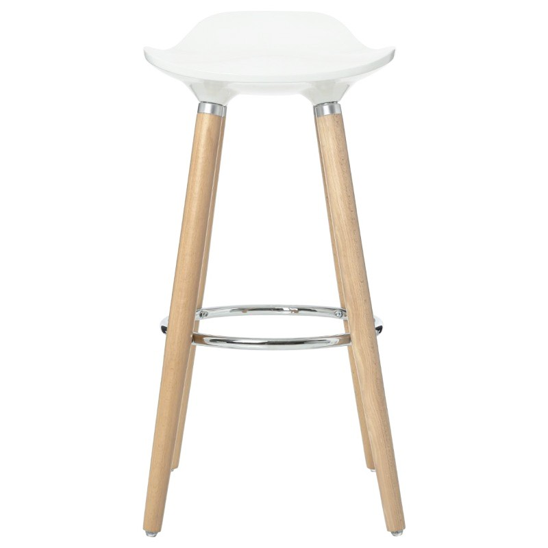 Tabouret de bar scandinave filel blanc veo shop for Tabouret bar scandinave