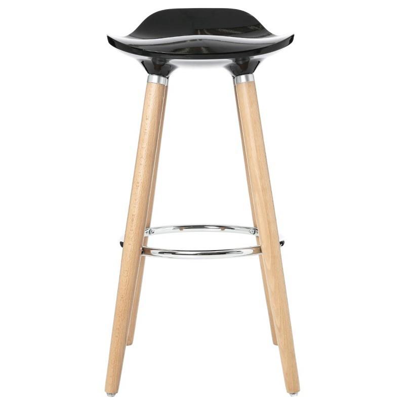 tabouret de bar scandinave filel noir veo shop. Black Bedroom Furniture Sets. Home Design Ideas