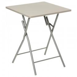 Table pliante 60X60cm BASIC - Taupe