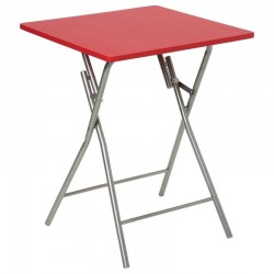 Table pliante BASIC - Rouge