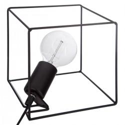 Lampe ampoule dans un cube H18cm MIO, CONTEMP' HOME - Noir