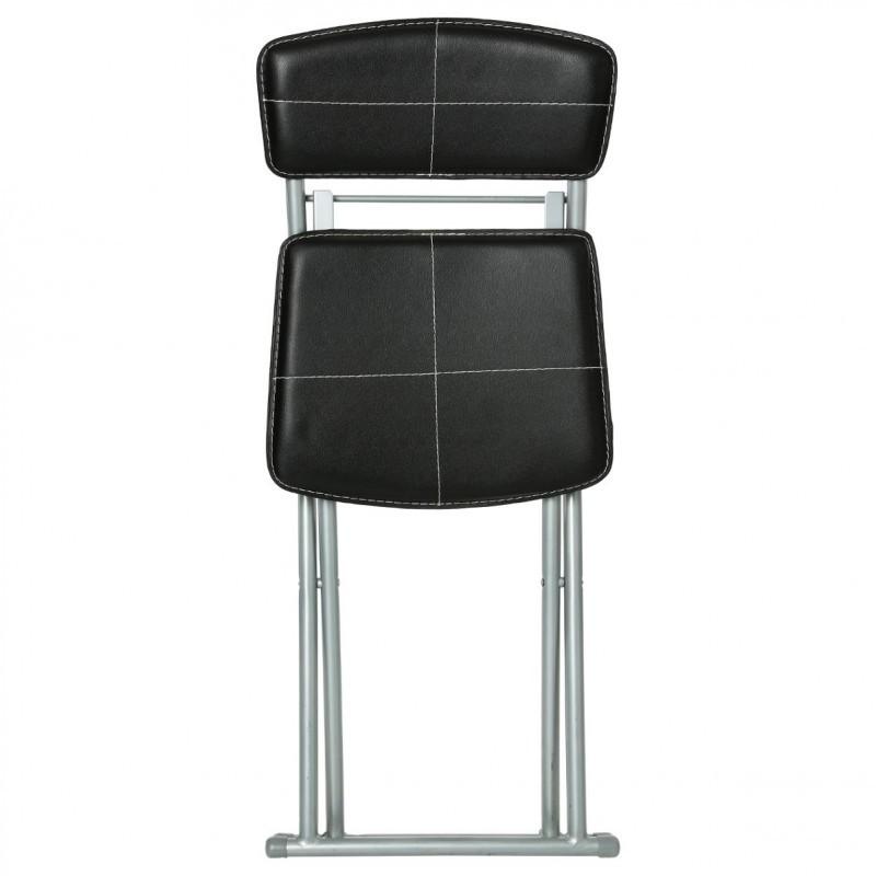 chaise pliante en pvc noir veo shop. Black Bedroom Furniture Sets. Home Design Ideas