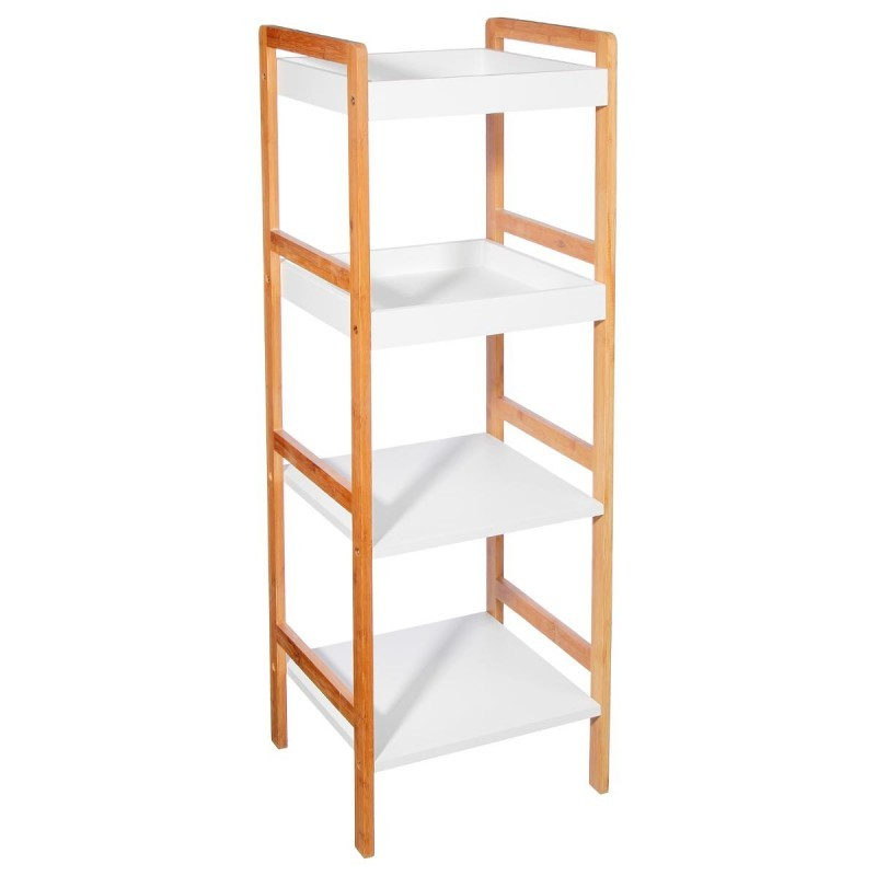 Tag re de salle de bain 4 tages en bambou veo shop for Etagere salle de bain bambou