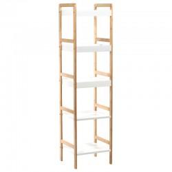 Étagère de salle de bain à 5 étages en bambou