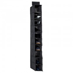 Rangement à chaussures 10 cases - Gris foncé