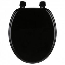 Abattant WC 18' en bois - Noir