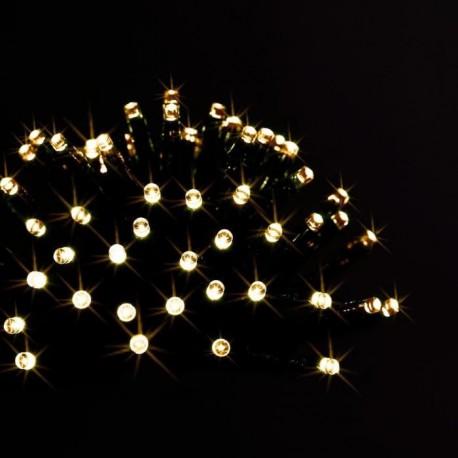 Guirlande programmable 96 LED blanc chaud 7m