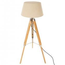Lampadaire à trépied H146cm RUNO - Bambou