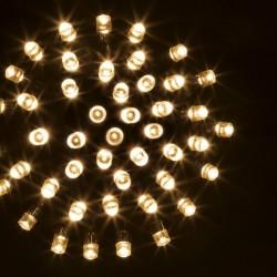 Guirlande 200 LED blanc chaud de 20m - Fil vert