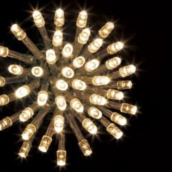 Guirlande 100 LED blanc chaud de 10m - Fil transparent