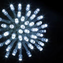 Guirlande 100 LED blanc froid de 10m - Fil transparent