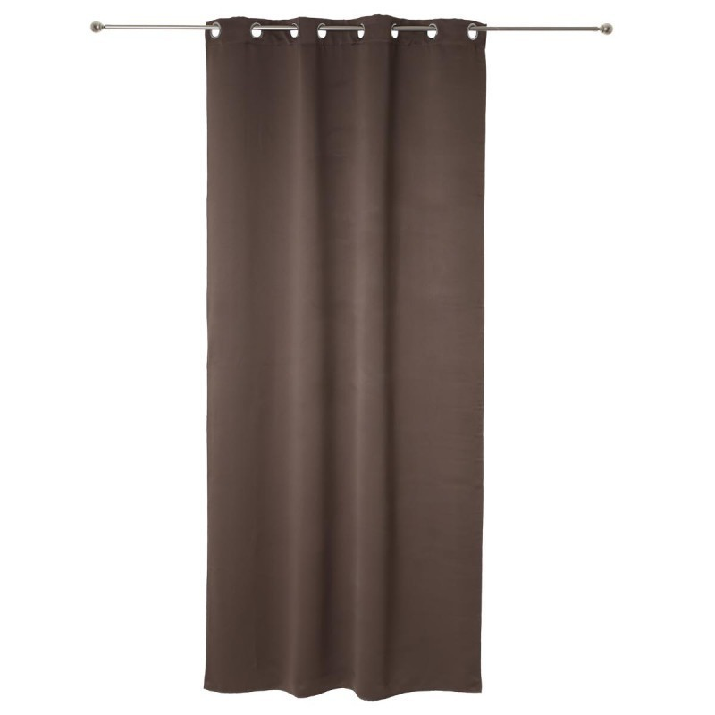 Rideau occultant 140x260cm taupe veo shop for Rideau taupe
