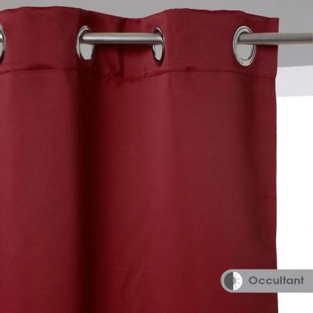 Rideau occultant 140X260cm - Rouge bordeaux