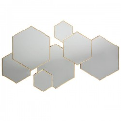 Miroir multi hexagones LILA, MODERN 1920 - Doré