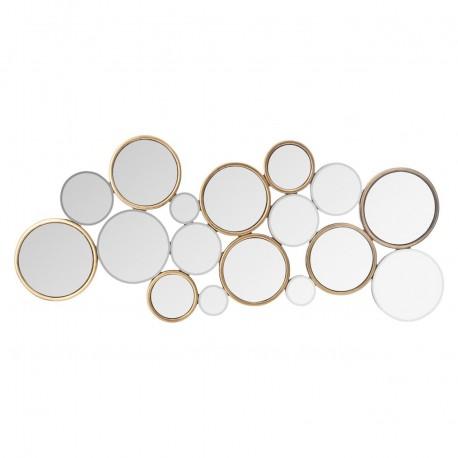 Miroir multi ronds 45X106cm AARON - Doré