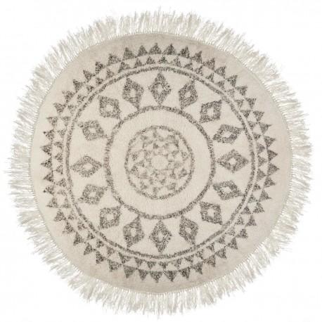 tapis rond d120 allure ethnique beige veo shop. Black Bedroom Furniture Sets. Home Design Ideas