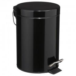 Poubelle à pédale 3L en métal - Noir