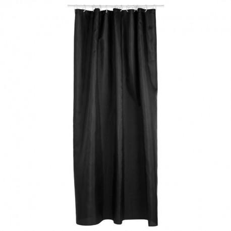 rideau de douche 180x200cm noir veo shop. Black Bedroom Furniture Sets. Home Design Ideas