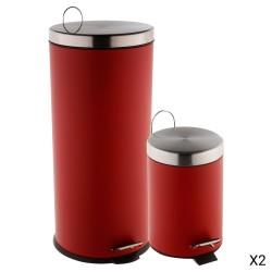 Lot de poubelle 30L et 3L - Rouge