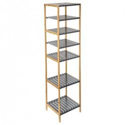 Étagère 5 plateaux + 2 modulable MIX'nMODUL - Bambou gris