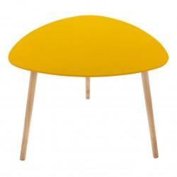 Table à café triangulaire MILEO - Jaune moutarde
