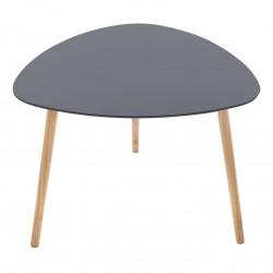 Table à café triangulaire MILEO - Gris foncé