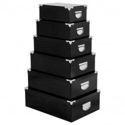 Lot de 6 boîtes - Noir