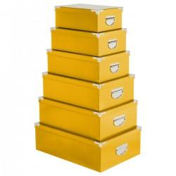 Lot de 6 boîtes - Jaune moutarde