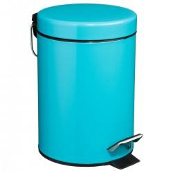 Poubelle à pédale 3L en métal - Turquoise