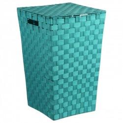 Panier à linge tressé - Turquoise